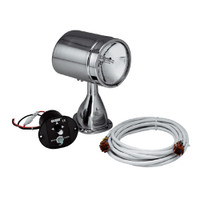 "Marinco 5"" Stainless Steel Spot/Flood Light with 15' Harness and Control  22040A"