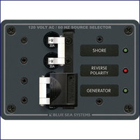 Blue Sea Systems 8032 120V AC Source Selector 30A Circuit Breaker Panel