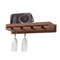 Whitecap Solid Teak Wine Glass Rack With Shelf