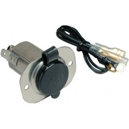 Marinco / AFI 12V Stainless Steel Receptacle With Protective Cap  20036