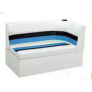 """Wise Deluxe 45"""" Right Corner Pontoon Lounger Seat w/Base  WD108"""