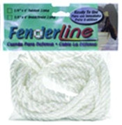 """Unicord White Twisted Fender Lines 1/4"""" x 6'  601141"""