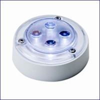 Innovative Lighting 034-4150-7 4-LED 3 inch Round Interior Light Red