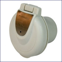 Furrion F50INR-PS 50 Amp 125V Inlet - Round, Non-Metallic with Stainless Plate
