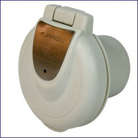 Furrion F52INR PS 50 Amp 125-250V Inlet - Round Non-Metallic With Stainless Plate