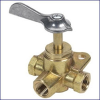 Moeller 033305-10 1/4 FNPT Brass 3-Way Valve