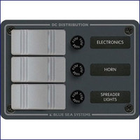 Blue Sea Systems 8054 3 Position-Slate Gray Vertical 12VDC