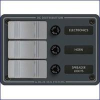 Blue Sea Systems 8054 3 Position-Slate Gray Vertical 12VDC