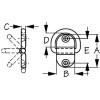 Sea Dog Small Folding D-Ring  048610-1