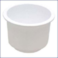 Sea Dog Large Flush Mount White Drink Holder 4 in