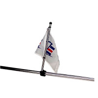 "Sea Dog 17"" Adjustable Rail Mount Flagpole Stainless   327122-1"