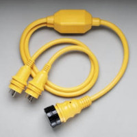 """Marinco RY504-2-30 Reverse """"Y"""" Adapter 2-30a Male-50a 125/250 Female"""