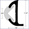 "Taco Marine Rigid Vinyl Rub Rail 20 ft. (1-1/2"") - White  V21-9501WHC20D"