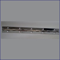 "Chrome Plated Brass Piano Hinge 5 ft. x 1""  WO-10009"