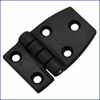 Short Side Door Hinge - Black Nylon  WO-10044