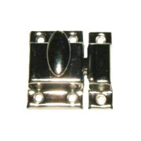 "Cupboard Turn Catch 1 1/2"" Chrome Plated Brass WO-10081"