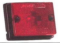 Red Side Marker Trailer Clearance Light  3 1/8""