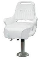 Wise ladder back helm pilot chair w/cushions, fixed pedestal & seat slide  WD1095-710