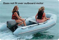 "Taylor Made Inflatable Sport Boat Semi-Custom Cover 10' 5""  -  11' 4""  x 66 "" with Gray   70128OG"