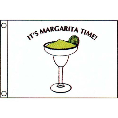 "Taylor Made 12"" x 18"" Margarita Time Flag  9818"