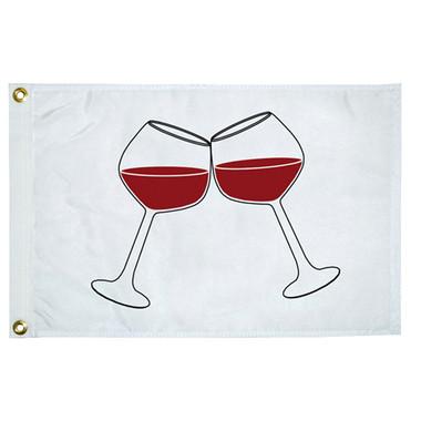 "Taylor Made 12"" x 18"" Novelty Flag -  Wine Glasses  5118"