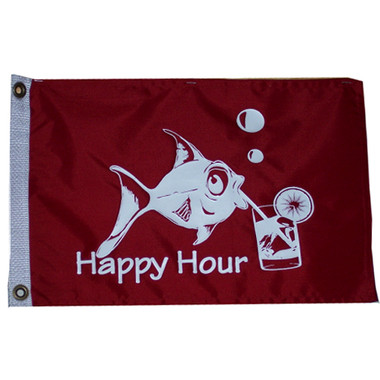 """Taylor Made 12"""" x 18"""" Flag - Happy Hour  5418"""