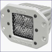 Rigid Industries 61151 M Series Flush Mount Dually LED Single Diffused Light