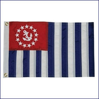 Taylor Made Deluxe Sewn Flag - U.S. Power Squardron Ensign  8218 8224