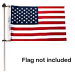 "Taylor Made 3/4"" Aluminum"" Flag Pole with Charlevoix® Clips  915  916"