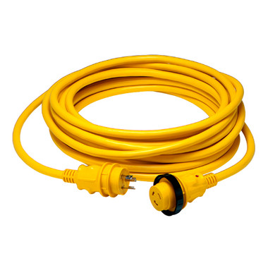 Marinco 30 Amp Power Cord Plus Cordset - 12 ft. yellow  199116
