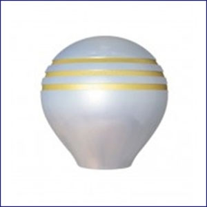 Throttle Knob Grooved Gold