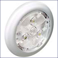 Attwood 6321W1 Amber LED Round Interior Light