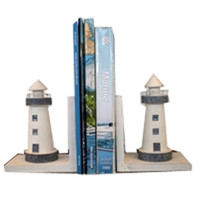 Wooden Light House Bookends