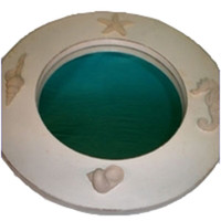 Round Seashell Mirror