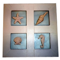 Seashell Collage Framed Wall Hanging
