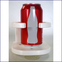 Poly Insulated Drink Holder with Suction Cups White