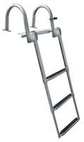 JIF Marine Preminum Stainless Steel Pontoon Transom Ladder GAT4