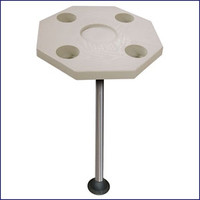 JIF Marine DSI-KS Octagonal Ivory Table Kit with Surface Mount