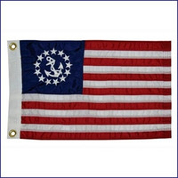 Taylor Made Deluxe Sewn Flags - U.S. Yacht Ensign  8118  8124  8130  8136