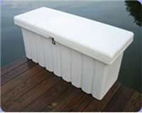"Romotech 44""x19""x17"" Medium Dock Box White (Toolbox)  82121809"