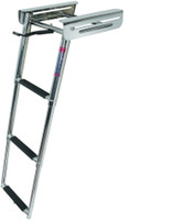 JIF Marine 4 Step Under Platform Sliding Ladder FOG4