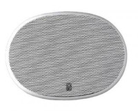 "Poly-Planar MA6900 Platinum High Power 6"" x 9"" Three Way Oval Speakers White"