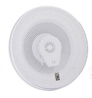 "Poly-Planar MA8506-W Titanium Series 6""  3 Way Round High Power Speaker White"
