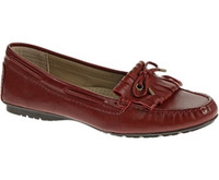 Sebago Women's Meriden Kiltie (Dark Red Leather) B409056