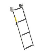Garelick 4 Step Telescoping Transom Platform Ladder Angled 19684