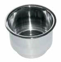 "JIF Marine 3.6"" Stainless Steel Drink Holder  FVT"