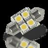 Lunasea Pointed Festoon 4 LED Light Bulb - 31mm  202C  LLB-202C-21-00