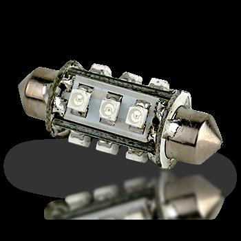 Lunasea Pointed Festoon 12 LED Light Bulb - 37mm  LLB-19LC-21-00  LLB-19LW-21-00