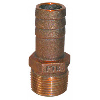 "Groco Bronze Fitting 1/2"" NPT to 1/2"" or 5/8"" Straight Hose Fitting  PTH-5062"