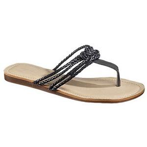Sebago Women's Black Poole Knot Sandal  B409029
